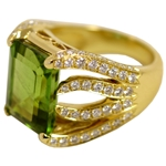 Peridot Flame Ring