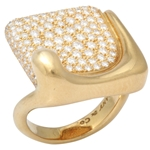 Gold and Diamond Ring : Elsa Peretti for Tiffany & Co