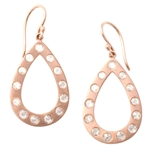 Rose Gold and Rose Cut Diamond Earrings