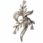 Platinum Diamond Floral Brooch